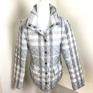 Burberry Classic Check Grey Quilted Barn Jacket